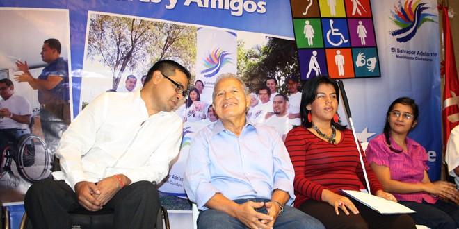 Personas con discapacidad externan apoyo a fórmula presidencial del FMLN