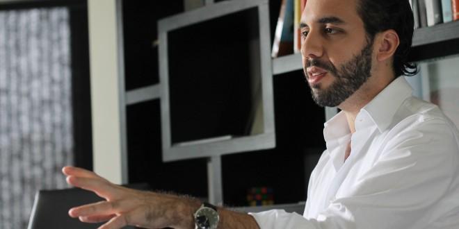 Nayib Bukele, alcalde de Nuevo Cuscatlán y candidato para la comuna de San Salvador. Foto Diario Co Latino/ Rodrigo Sura