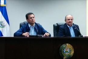 El Canciller de la República, Hugo Martínez, y el subsecretario de Gobernabilidad y Comunicaciones, Hato Hasbún, ofrecen conferencia de prensa para dar a conocer la próxima firma del Fomilenio II. Foto Diario Co Latino.