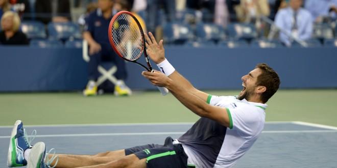El croata Marin Cilic festeja tras proclamarse campeón del US Open de Tenis. Foto Diario Co Latino/Xinhua.