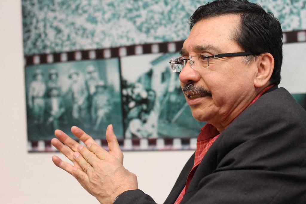 Medardo González, coordinador general del FMLN. Foto Diario Co Latino/ Rodrigo Sura