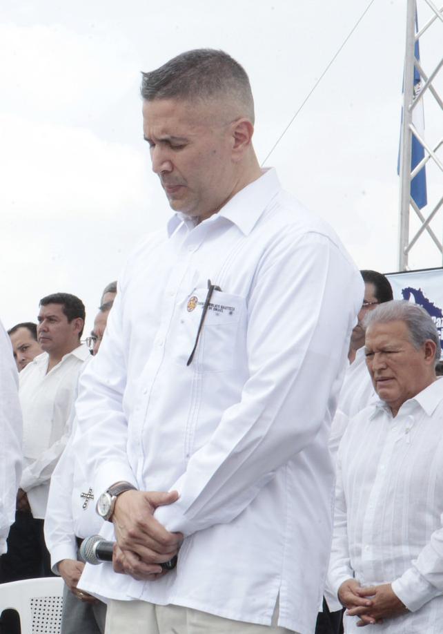 Edgar López Bertrand (hijo), pastor del Tabernáculo Biblico Bautista. Foto Diario Co Latino