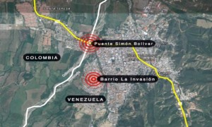 Mapa de de las zonas donde el gobierno de Venezuela realiza los operativos.
