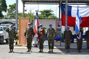 Contingentes de Militares salvadoreños, desplegados en Haiti y Mali, recibieron reconocimientos por contribuir a la paz de parte de la Organización de las Naciones Unidas (ONU).  Foto Diario Co Latino
