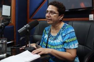 Silvia Cartagena, miembro de la Comisión Electoral.  Foto Diario Co Latino/Juan Carlos Villafranco