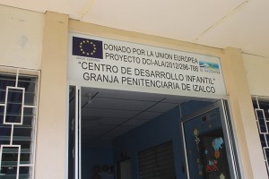 Fachada del Centro de Desarrollo Infantil en la Granja deI penal de Izalco. Foto Diario Co Latino.