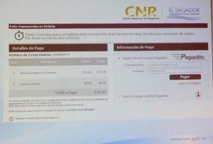 """El Centro Nacional de Registros (CNR), hizo la presentación de el nuevo servicio de """"Pago en Línea"""", a través de la web www.cnr.gob.sv"""