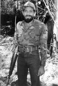 Wilber Mendoza (El Viejo Wilber), Jefe de la guerrilla del PRTC.