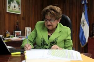 Violeta Menjivar, ministra de Salud. Foto Diario Co Latino/ Guillermo Martínez