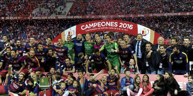 El Barcelona gana la Copa del rey  en la prórroga y cierra su doblete