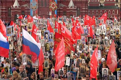 Rusia conmemora con desfile militar la victoria frente a la Alemania nazi
