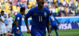 Brasil elimina a Costa Rica y Suiza se mete en la lucha
