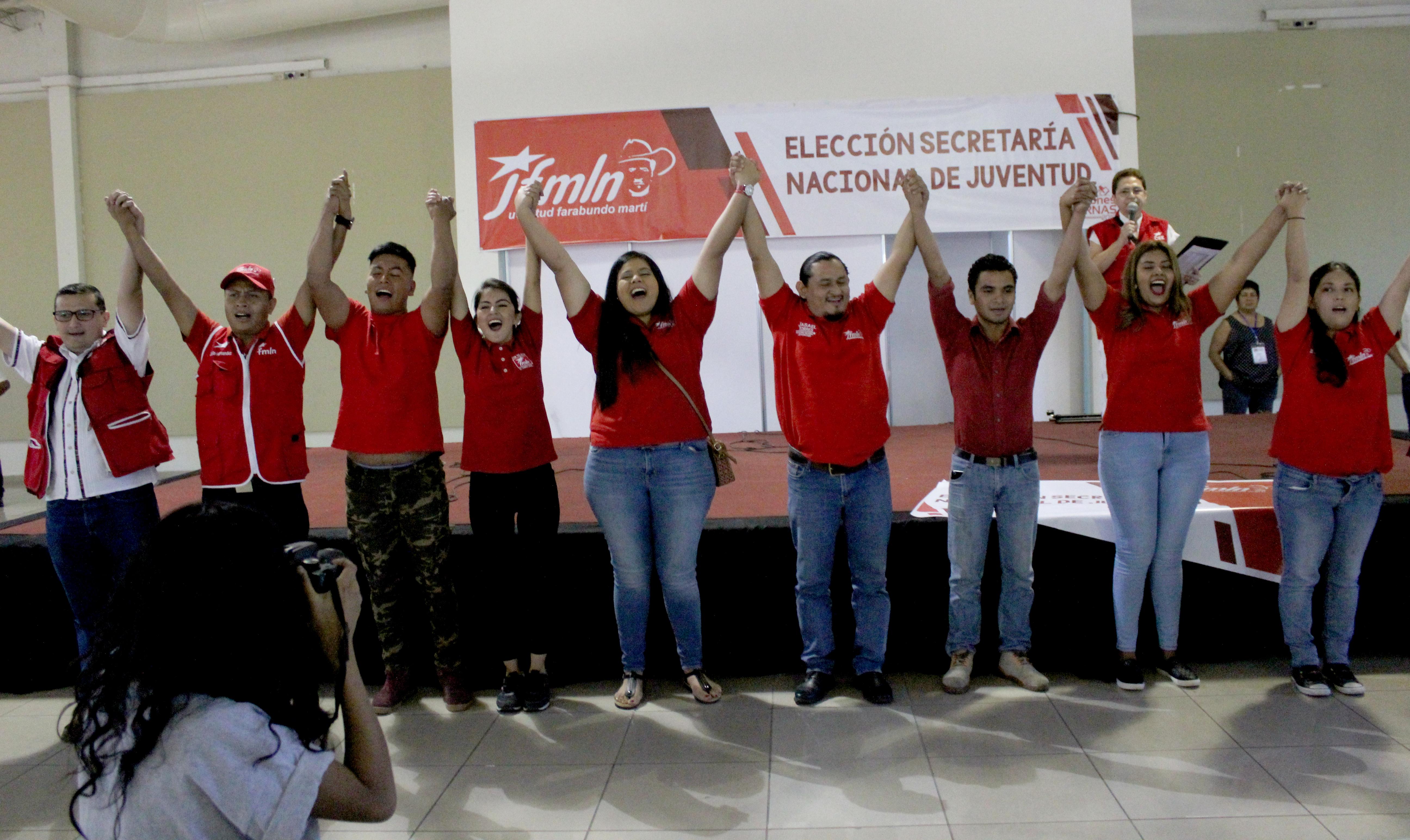 Jasael Torres electo como secretario de la Juventud del FMLN